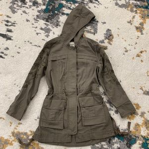 Abercrombie & Fitch Embroidered Utility Jacket